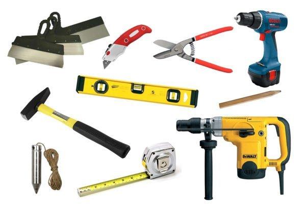Набор инструментов для работы с гипсокартоном