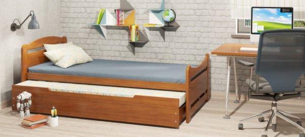 Нагруженные узлы качественной раскладной мебели делаются из дерева, фанеры или мебельного щита.