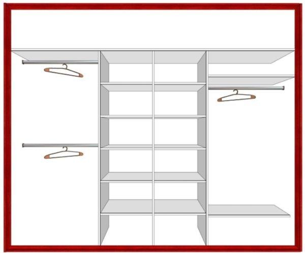 Наполнение шкафа делает эксплуатацию мебели более функциональной
