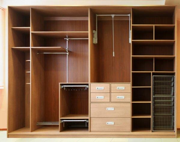 Наполнение стандартного вещевого шкафа