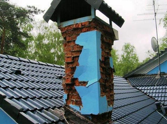 Облицовка дымохода на крыше клинкерной плиткой кирпичные трубы с дымоходами