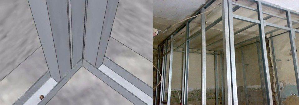 Как сделать углы на стенах из профиля
