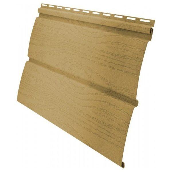 Недорогая имитация древесины в виде пластиковой сайдинговой панели