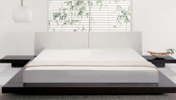 Невысокие кровати смотрятся стильно и необычно