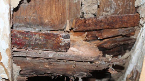 Незащищённое деревянные стены подвержены процессам гниения, что ведёт к разрушению всей постройки