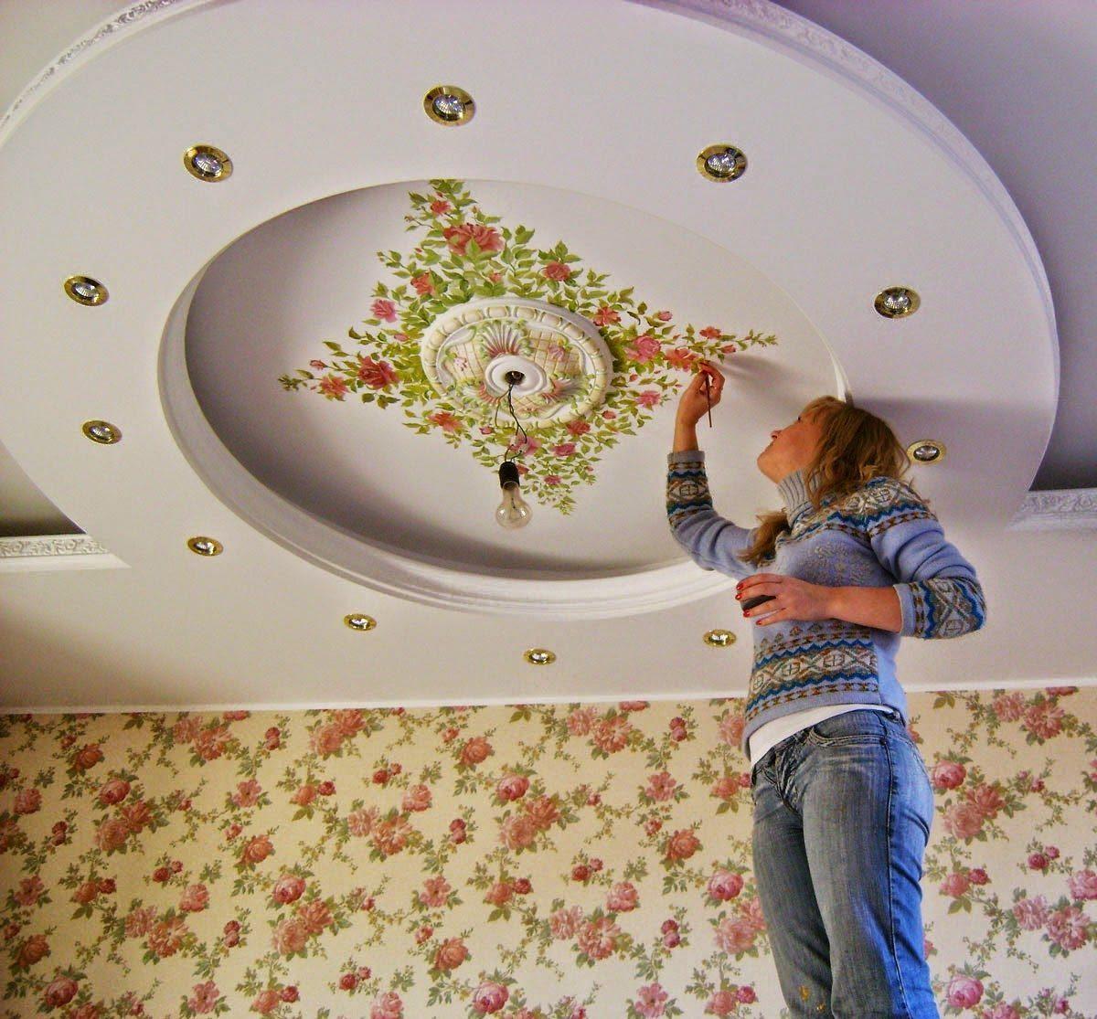 Сделать красивый потолок своими руками