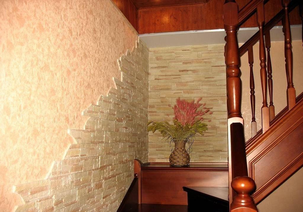 Фото дизайна искусственного камня в интерьере