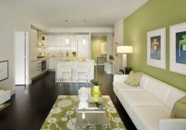 Обои оливкового цвета включают в себя сразу несколько оттенков: бежевый, зеленый, серый и желтый