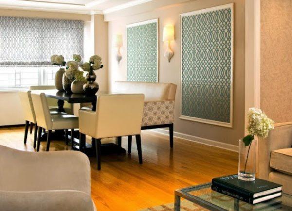 Обои в рамке позволяют просто и эффектно декорировать помещение