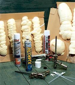 Оборудование для задувания монтажной пены.