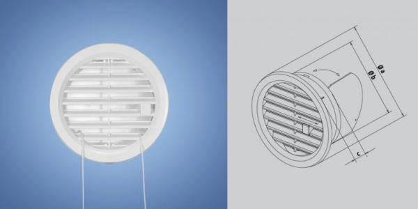 Обратный клапан удобен при обустройстве приточной или вытяжной вентиляции.