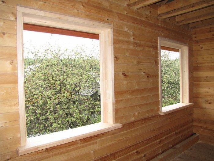 Окна в доме из бруса своими руками 743