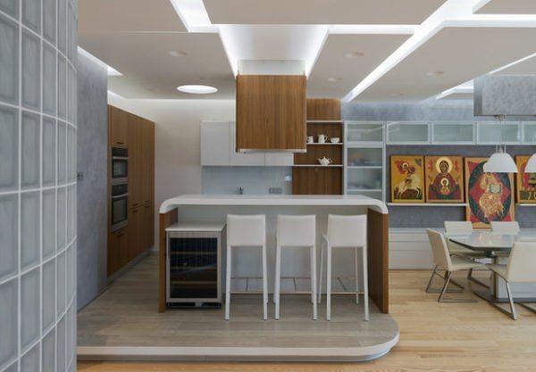 Общий вид кухонного пространства