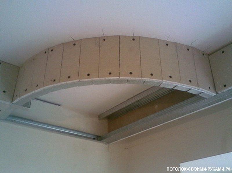 Потолок из гипсокартона своими руками видео в спальне