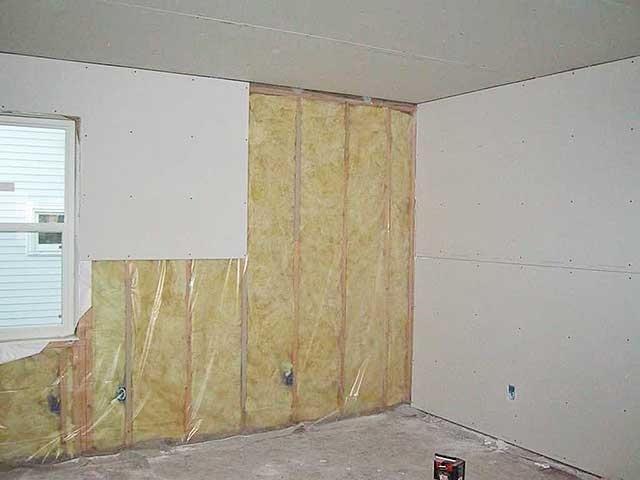 Отделка гипсокартоном стен в деревянном доме