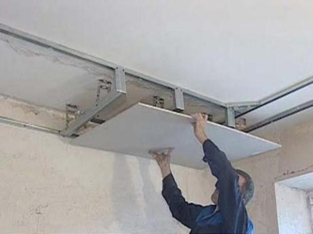 Монтаж своими руками потолка из гипсокартона