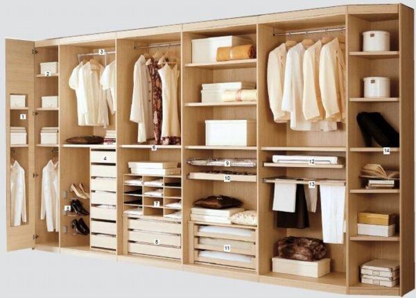 Один из вариантов вместительного шкафа под одежду и обувь