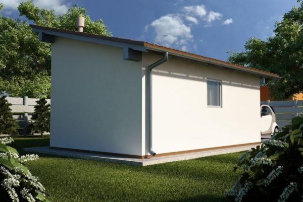 Односкатная крыша имеет небольшой угол наклона