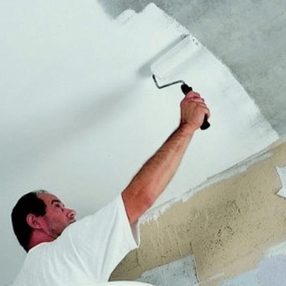 Окрашивание потолка без шпатлевки.