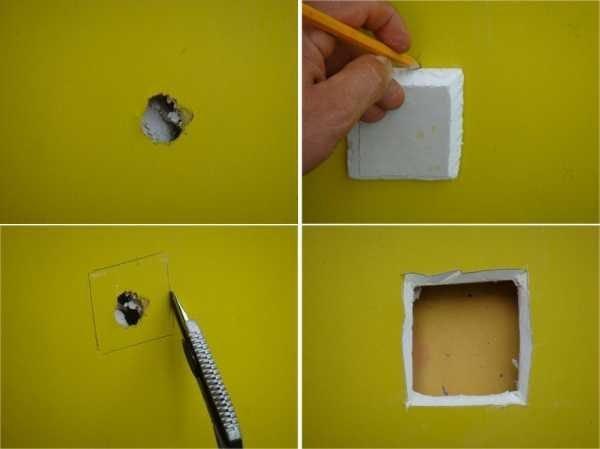 Окультуривание пролома в стене.