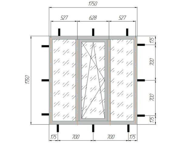 Анкерная пластина для пластиковых окон