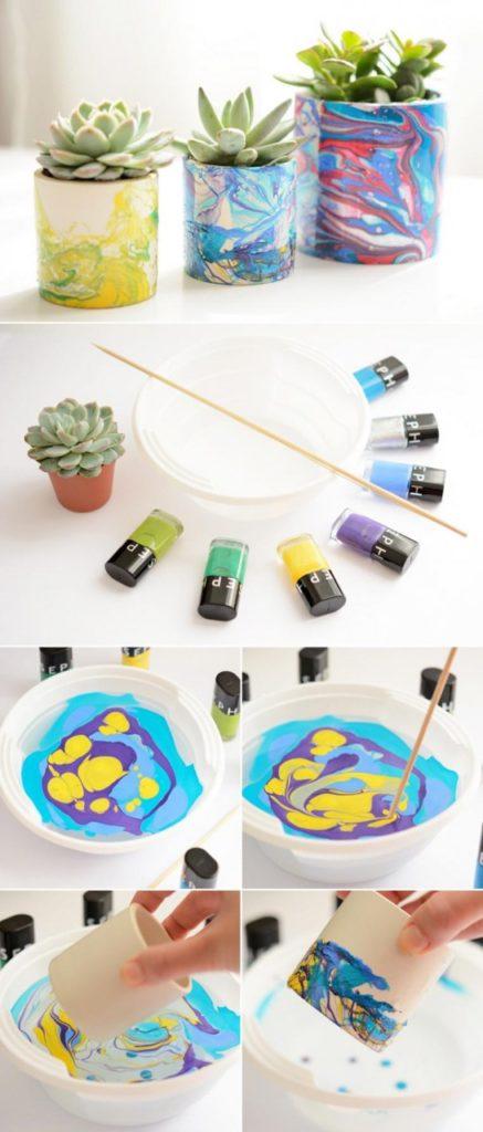 7 идей для декора цветочного горшка