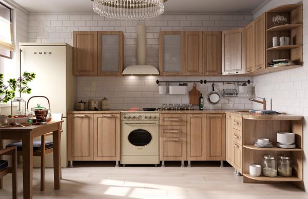 От расстояния между нижними и верхними шкафами зависит удобство эксплуатации кухни