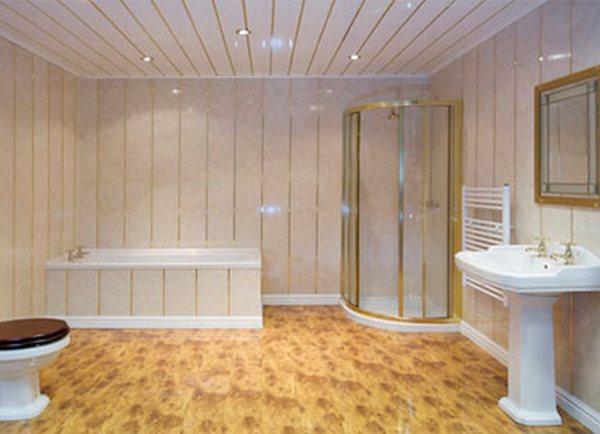 Фото дизайна ванной из пластиковых панелей