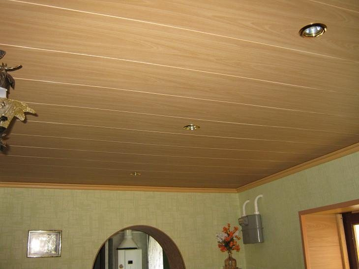 Потолок из пластиковых панелей фото и идеи