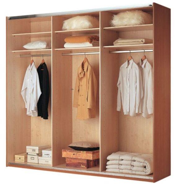 Отделение, предназначенное для хранения длинной и среднеразмерной одежды