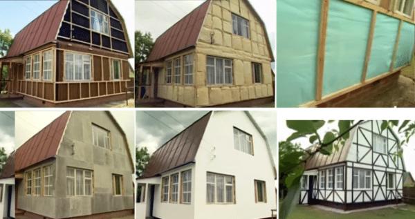 Отделка фасада в стиле фахверк буквально преображает дом