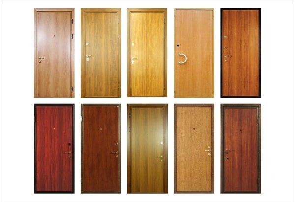 покрытие и отделки металлических дверей