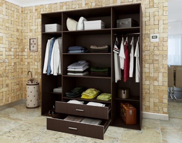 Открытая модель мебели, в которой нет дверок