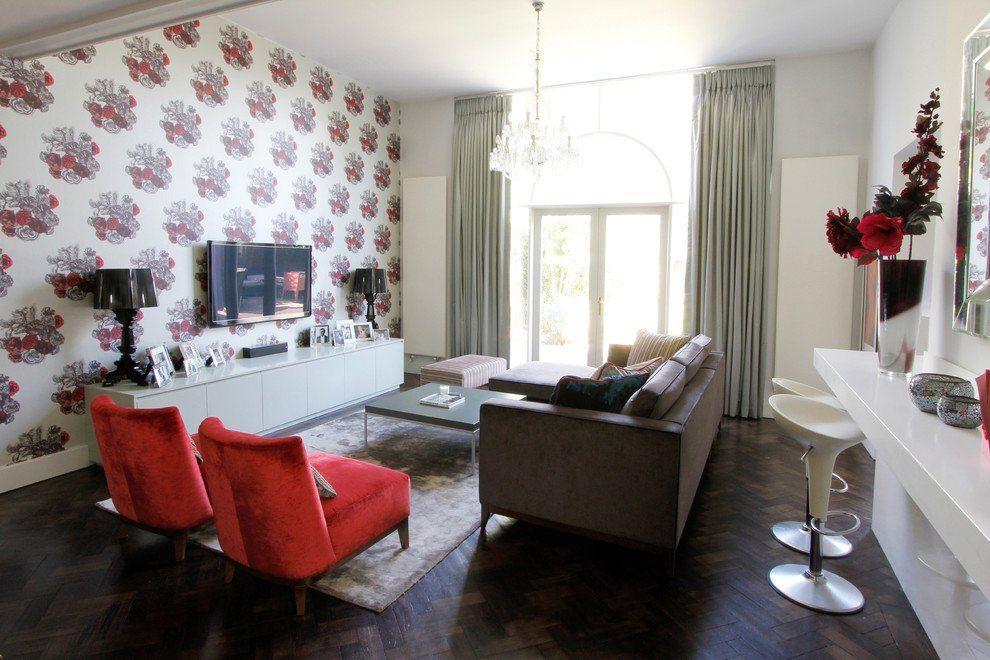 Отлично, если мебель будет повторять цвета, использованные в отделке стен