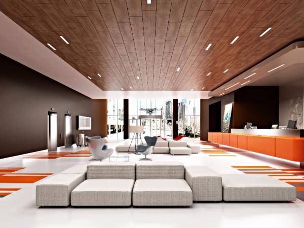 Панели для потолка в современном интерьере.