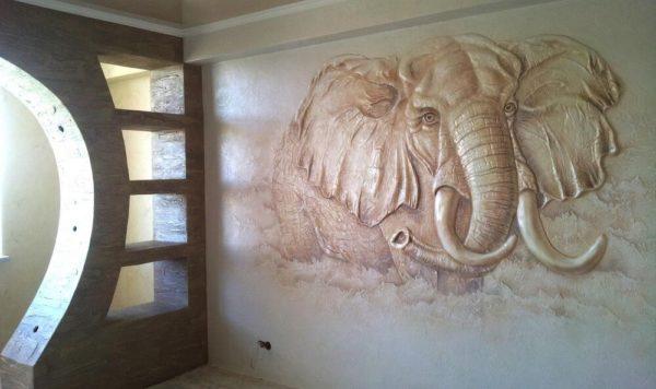 Панно – африканский слон