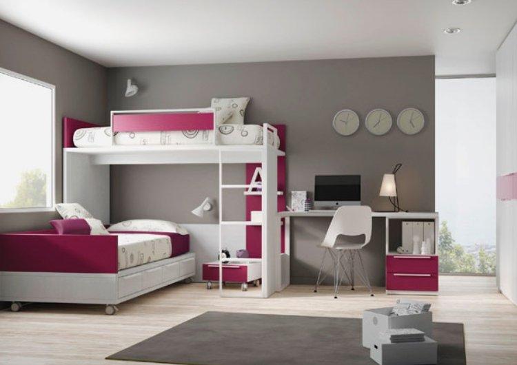 Перпендикулярное расположение спальных мест - отличное решение для интерьера детской