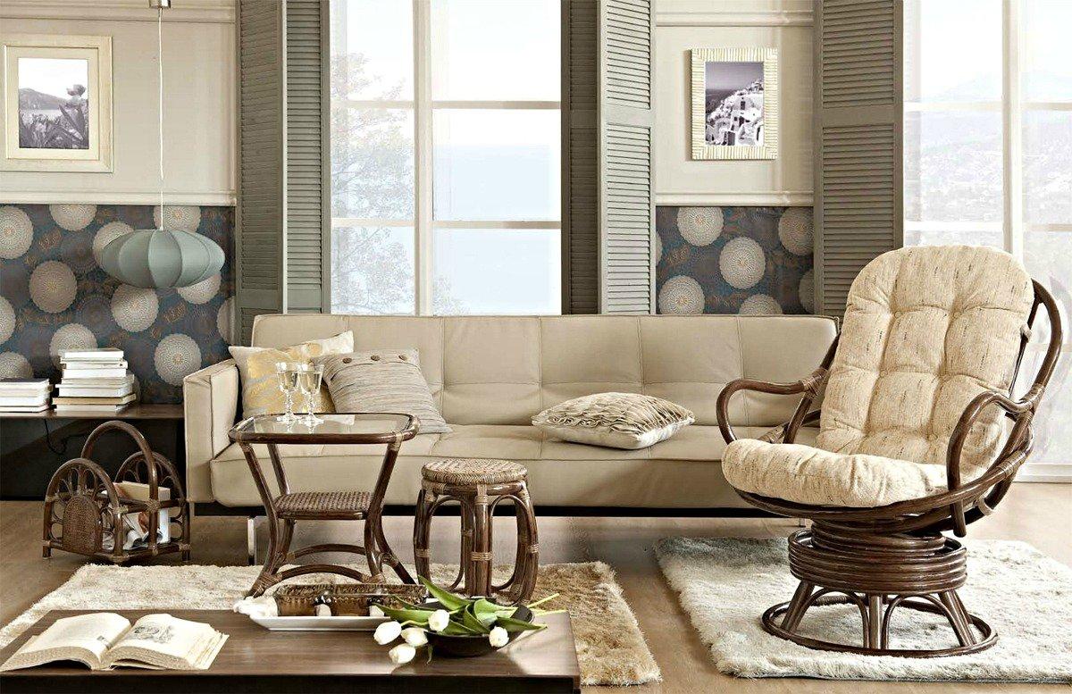Плетёная мебель в современном интерьере