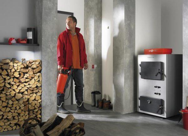 Площадь котельной под твердотопливный котел должна быть больше, чем у газового варианта