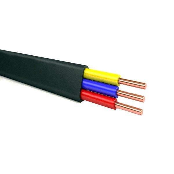Плоский монтажный кабель ВВГнг Ls - не тлеет и не распространяет горение в пучке