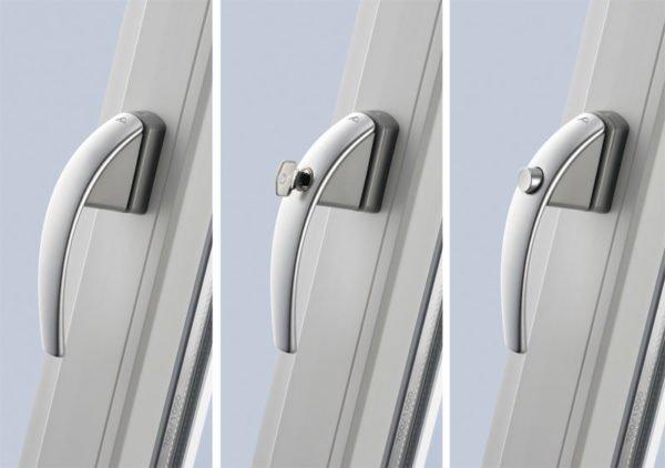 Двухсторонняя ручка на балконную дверь