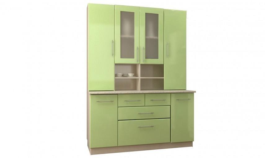 Полностью закрытый верхний сектор актуален для кухонных шкафов.