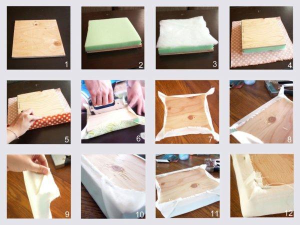 Пошаговая инструкция обустройства мягких мебельных щитков.