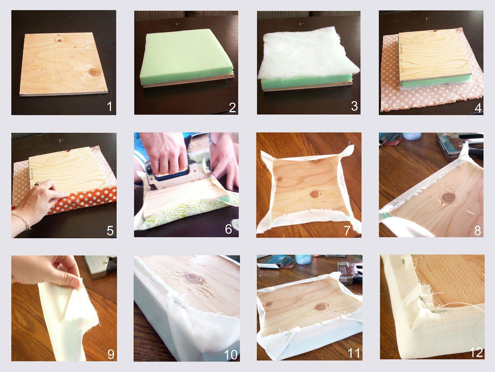 Пошаговая инструкция создания мягкой секции для наборного изголовья кровати.