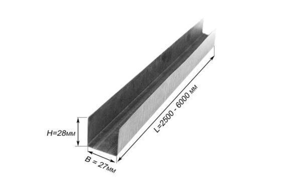 Потолочный направляющий профиль нужен для крепления обрешетки к стенам.