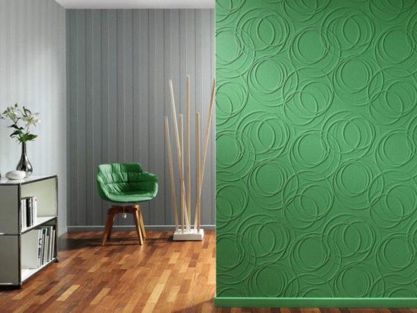 При минимальных затратах можно менять цвет стен