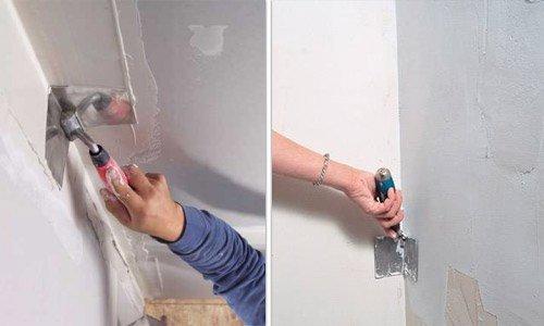 При обработке внутренних углов удобно применять угловой инструмент