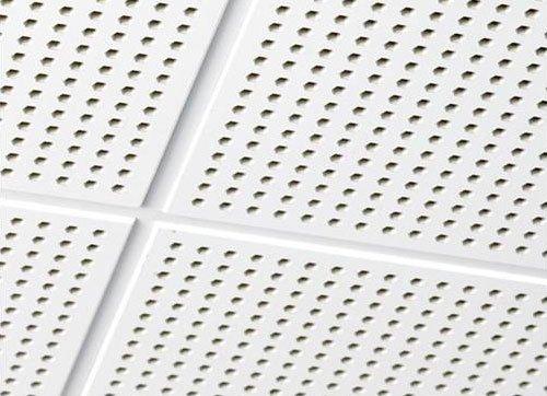 Пример использования акустического гипсокартона на потолке