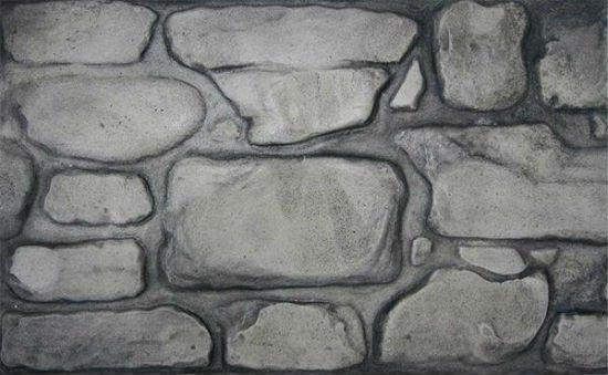 Пример оштукатуренной поверхности с использованием трафарета