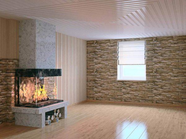 Пример отделки стен с использованием гусварблока